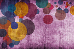 Grunge colorful circles Stock Photography