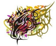 Grunge colorful eagle head splashes Royalty Free Stock Image