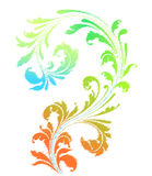 Grunge colorful floral element Stock Photography