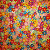 Grunge colorful flowers background pattern Stock Photo