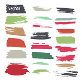 Grunge colorful ink paint strokes. Vector design Stock Photo
