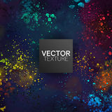 Grunge Colorful Painted Splatter Spots Vector Background. Art Royalty Free Stock Image