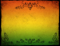 Grunge colorful paper background with floral ornament.  royalty free illustration