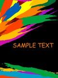 Grunge colorful splashing, vec royalty free stock images