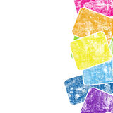Grunge colorful squares Royalty Free Stock Image