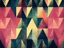 Grunge colorful triangles Stock Image