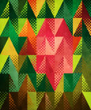 Grunge colorful triangles Royalty Free Stock Images