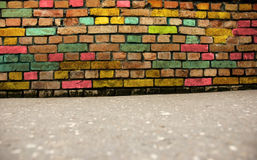 Grunge colorful wall background Royalty Free Stock Images
