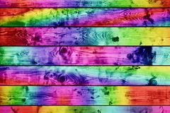 Grunge colorful wood planks background Stock Photo