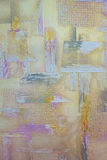 Grunge colorfull stelde concrete muurtextuur bloot Royalty-vrije Stock Afbeelding