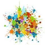 Grunge colorido ilustração do vetor