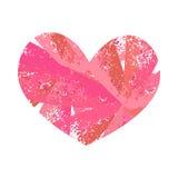 Grunge colorido del corazón Fotos de archivo