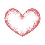 Grunge colorido del corazón Imagen de archivo