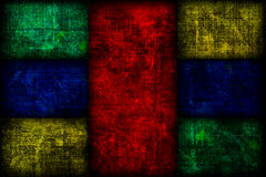 Grunge coloriu o fundo das caixas de Fibonacci Fotos de Stock Royalty Free