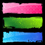 Grunge colour banners. Brush abstract backgrounds Royalty Free Stock Image