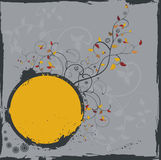 Grunge colourful floral frame Stock Images