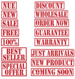 Grunge Commercial Product Rubber Stamp Set Stock Image