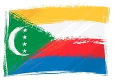 Grunge Comoren Markierungsfahne stock abbildung