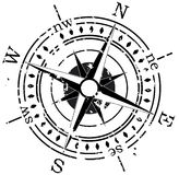 Grunge compass Royalty Free Stock Image