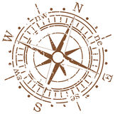Grunge compass. On white background