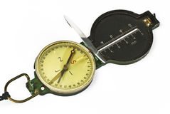 Grunge compass. On white background stock photography