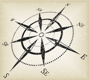 Grunge compass vector Royalty Free Stock Photos