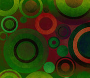 Grunge composition with circles Royalty Free Stock Photo