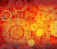 Grunge composition with circles Royalty Free Stock Images