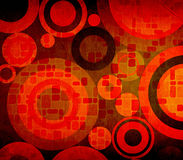 Grunge composition with circles ideal for backgrounds Stock Photography