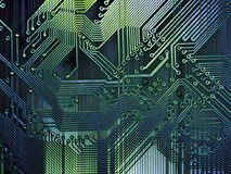 Grunge Computer Background. Abstract perspective on computer parts - a motherboard has been digitally enhanced to produce a grunge texture effect. Perfect as a vector illustration