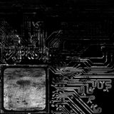Grunge  computer circuit board Stock Photo