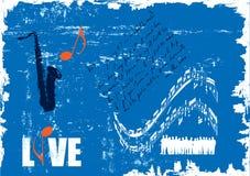 Grunge concert poster. Vector illustration of grunge concert poster Stock Photography