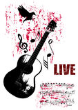 Grunge Concert Poster. Vector Art Royalty Free Stock Image