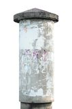 Grunge concrete advertising pillar isolated Stock Images