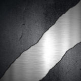 Grunge concrete and brushed metal background Stock Photos