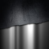 Grunge concrete and brushed metal background Stock Photography