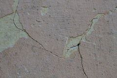 Grunge concrete cement wall with crack in industrial building, great texture background Stock Image