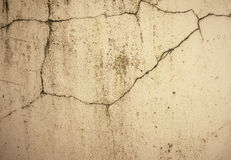 Grunge concrete cement wall with crack in industrial building Royalty Free Stock Image