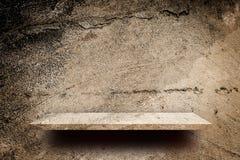 Grunge Concrete lege plank voor productvertoning Royalty-vrije Stock Foto