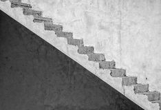 Grunge concrete staircase (artistic edit) royalty free stock image