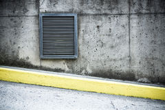 Grunge concrete wall and air ventilation duct Royalty Free Stock Photography