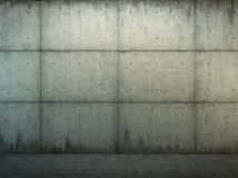 Grunge concrete wall and floor closeup Royalty Free Stock Images