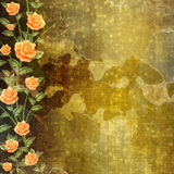 Grunge concrete wall with garland Stock Image