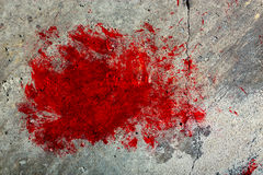 Grunge Concrete Wall with Red Splash Royalty Free Stock Image