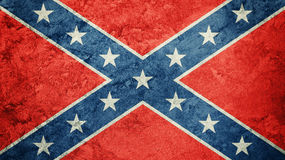 Grunge Confederate flag. Confederation flag with grunge texture. Grunge flag Stock Image