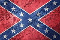Grunge Confederate flag. Confederation flag with grunge texture. Royalty Free Stock Images