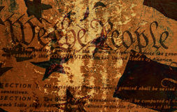 Grunge Constitution Stock Photo