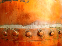 Grunge Copper Detail Royalty Free Stock Photos