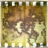Grunge corroded film frame Stock Images