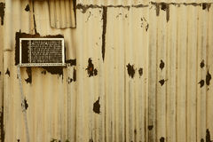 Grunge corrugated fence Royalty Free Stock Images